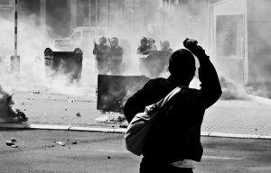 Proteste e LVetevendosje kinder ardhjes se kryenegociatorit Serb ne Prishtine. (THE Frontliner Foto/Vedat Xhymshiti)