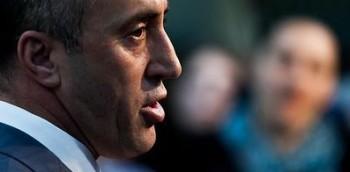 AAK Chairman Ramush Haradinaj, during a press conference in Pristina, Kosovo's capital city. [Picture by Vedat Xhymshiti]