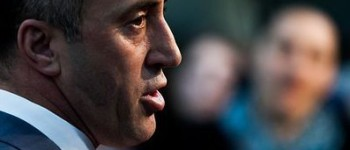 AAK Chairman Ramush Haradinaj, during a press conference in Pristina, Kosovo's capital city. [Picture by Vedat Xhymshiti]
